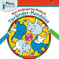 Mein Kindergarten-Malblock: Tierkinder-Mandalas - Produktdetailbild 1