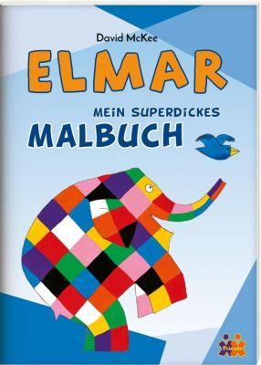 Mein superdickes Malbuch - Elmar, David McKee