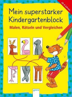 Mein superstarker Kindergartenblock. Malen, Rätseln und Vergleichen, Friederike Barnhusen, Lena Roth, Edith Thabet