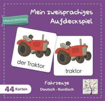 Mein zweisprachiges Aufdeckspiel, Fahrzeuge Deutsch-Kurdisch (Kinderspiel)