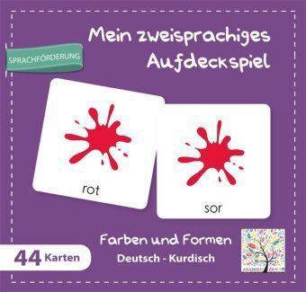 Mein zweisprachiges Aufdeckspiel, Farben und Formen Deutsch-Kurdisch (Kinderspiel)