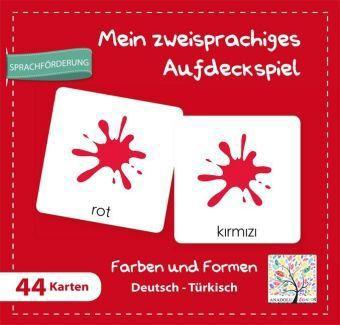 Mein zweisprachiges Aufdeckspiel, Farben und Formen Deutsch-Türkisch (Kinderspiel)