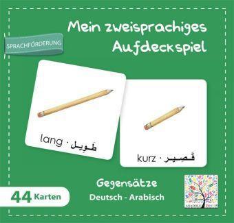 Mein zweisprachiges Aufdeckspiel , Gegensätze, Deutsch-Arabisch (Kinderspiel)