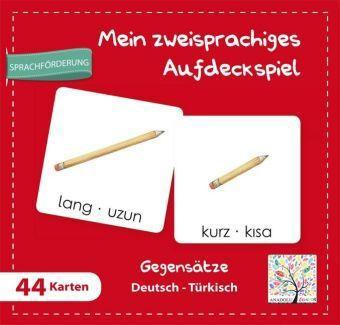 Mein zweisprachiges Aufdeckspiel, Gegensätze Deutsch-Türkisch (Kinderspiel)