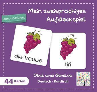 Mein zweisprachiges Aufdeckspiel, Obst und Gemüse, Deutsch-Kurdisch (Kinderspiel)