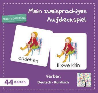 Mein zweisprachiges Aufdeckspiel, Verben Deutsch-Kurdisch (Kinderspiel)