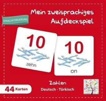 Mein zweisprachiges Aufdeckspiel, Zahlen Deutsch-Türkisch (Kinderspiel)