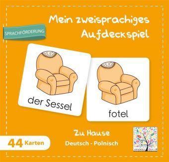 Mein zweisprachiges Aufdeckspiel, Zu Hause Deutsch-Polnisch (Kinderspiel)