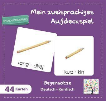 Mein Zzeisprachiges Aufdeckspiel, Gegensätze Deutsch-Kurdisch (Kinderspiel)