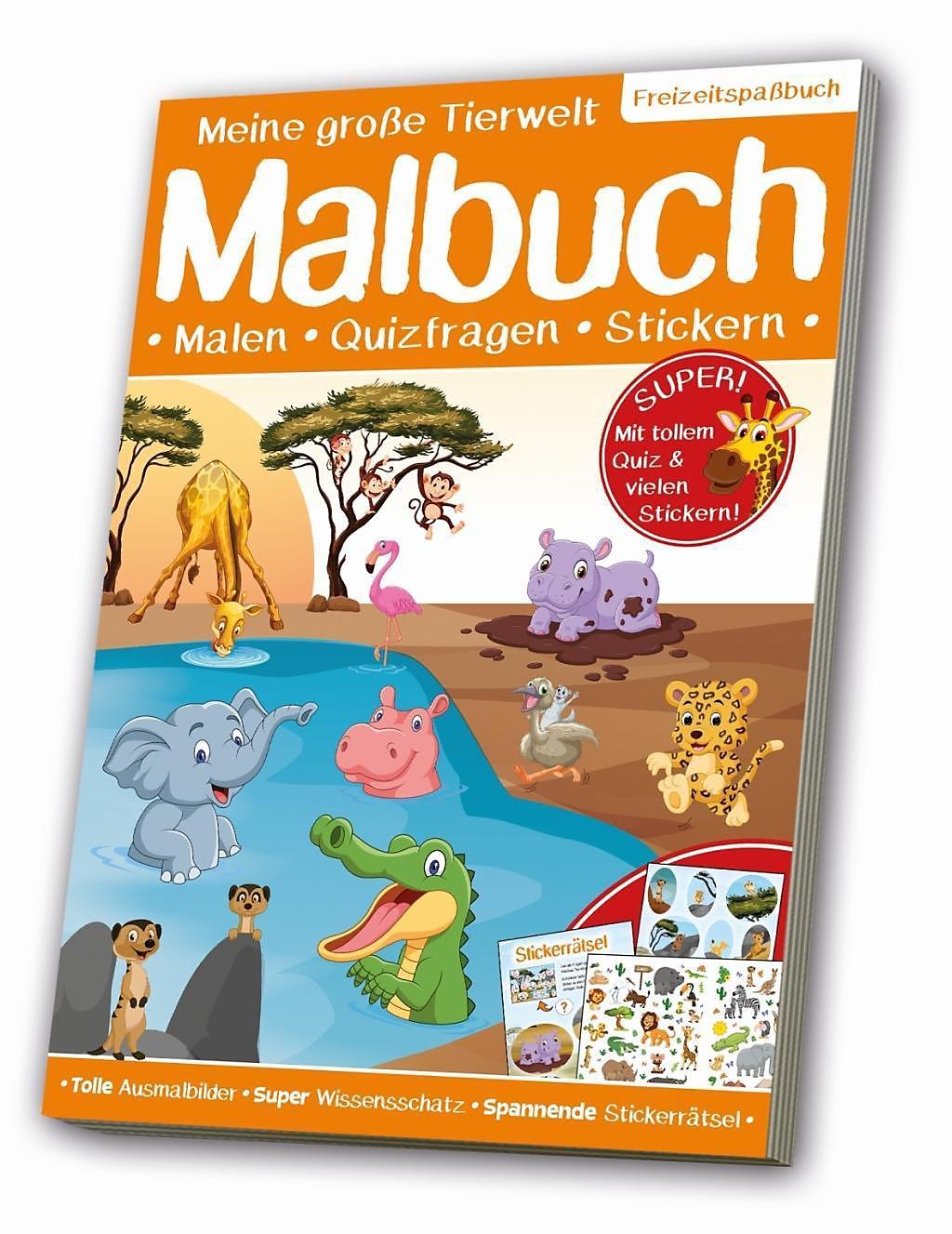 Meine Große Tierwelt Malbuch Lebensraum Savanne Buch Weltbild De