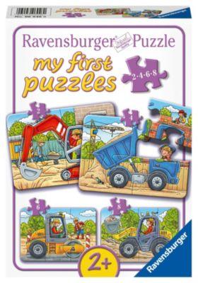 Meine liebsten Baustellenfahrzeuge my first puzzles - 2,4,6,8 T.