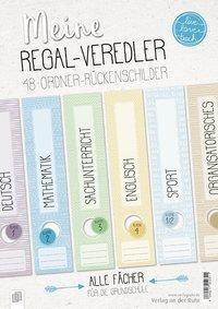 Meine Regal-Veredler live - love - teach: 48 Ordner-Rückenschilder - alle Fächer, Redaktionsteam Verlag an der Ruhr