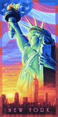 Meisterklasse Hochformat, Malen nach Zahlen (Mal-Sets): Die Freiheitsstatue von Amerika, New York