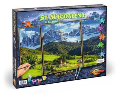 Meisterklasse Triptychon, Malen nach Zahlen (Mal-Sets): St.Magdalena in Südtirol