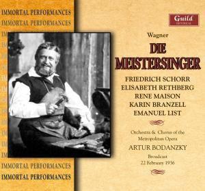 Meistersinger, Bodanzky,schorr,rethberg,maison,+ Met.opera