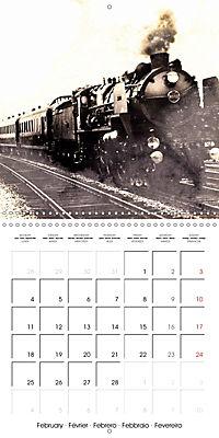 Memories of old times: Historic steam locomotives (Wall Calendar 2019 300 × 300 mm Square) - Produktdetailbild 2