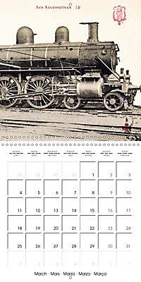 Memories of old times: Historic steam locomotives (Wall Calendar 2019 300 × 300 mm Square) - Produktdetailbild 3