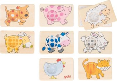 Memospiel Tiermuster 16-Teilig