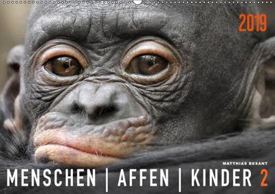 MENSCHENAFFENKINDER 2 (Wandkalender 2019 DIN A2 quer), Matthias Besant