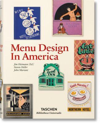 Menu Design in America, Steven Heller, John Mariani