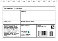 Mercedes Benz 170 Cabriolet (Tischkalender 2019 DIN A5 quer) - Produktdetailbild 13