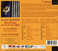 Messe D'Orgue Des 3 Et 8 Tons - Produktdetailbild 1