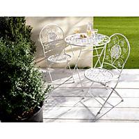 Metall-Gartenmöbel Romantik, 3er-Set Farbe: weiß | Weltbild.de