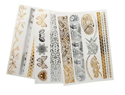 Metallic-Tattoo Ethno, 6er Set