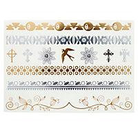 "Metallic-Tattoo ""Ethno"", 6er Set - Produktdetailbild 3"