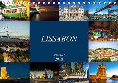 Metropole Lissabon (Tischkalender 2019 DIN A5 quer), Dirk Meutzner