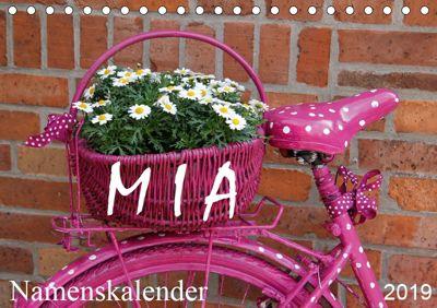 MIA - Namenskalender (Tischkalender 2019 DIN A5 quer), SchnelleWelten