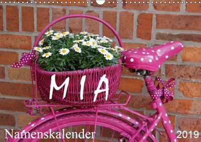 MIA - Namenskalender (Wandkalender 2019 DIN A3 quer), SchnelleWelten