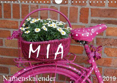 MIA - Namenskalender (Wandkalender 2019 DIN A4 quer), SchnelleWelten