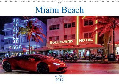 Miami Beach Art Deco (Wandkalender 2019 DIN A3 quer), Boris Robert