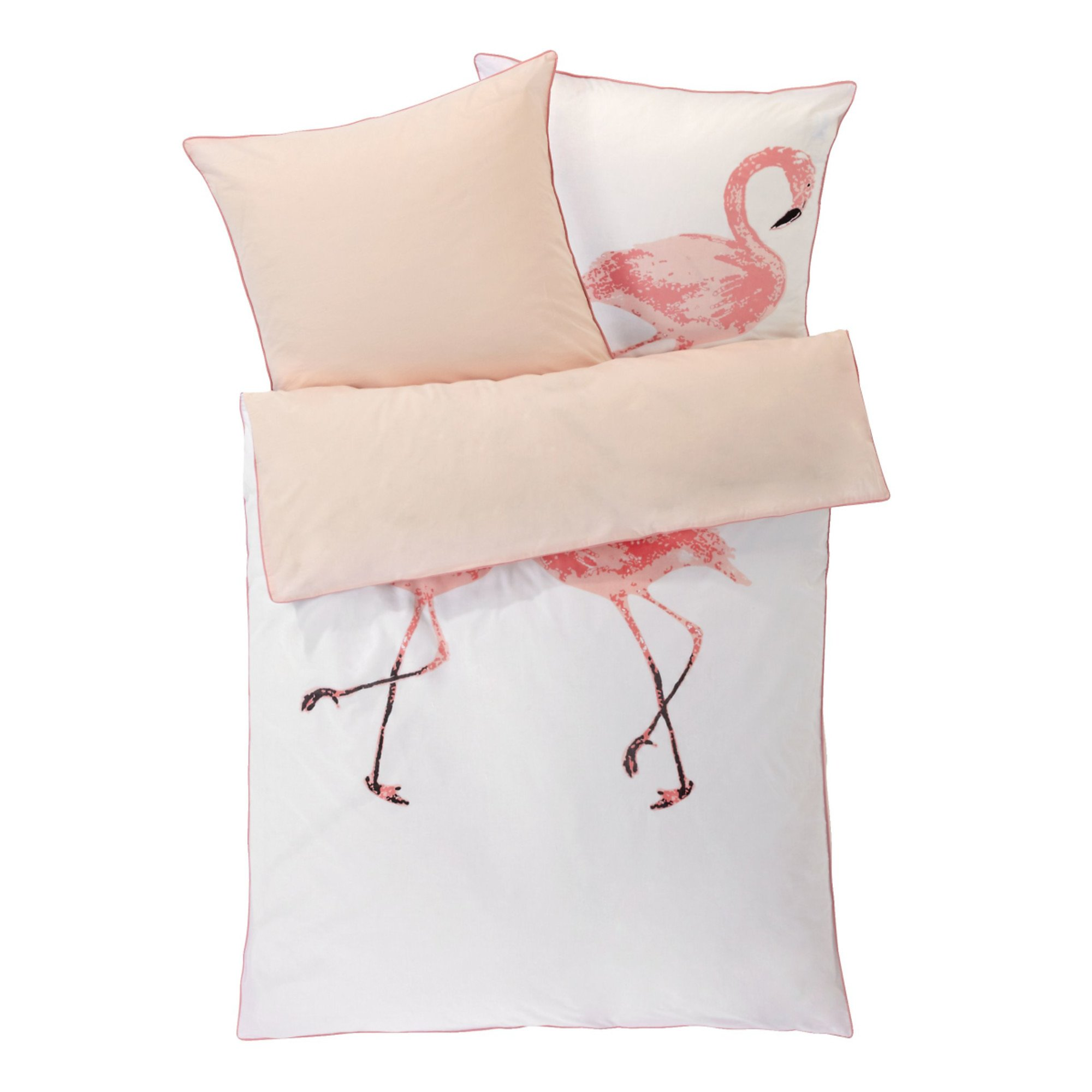 Miavilla Bettwäsche Flamingo Weiß Rosa 135 X 200 Cm Weltbildde