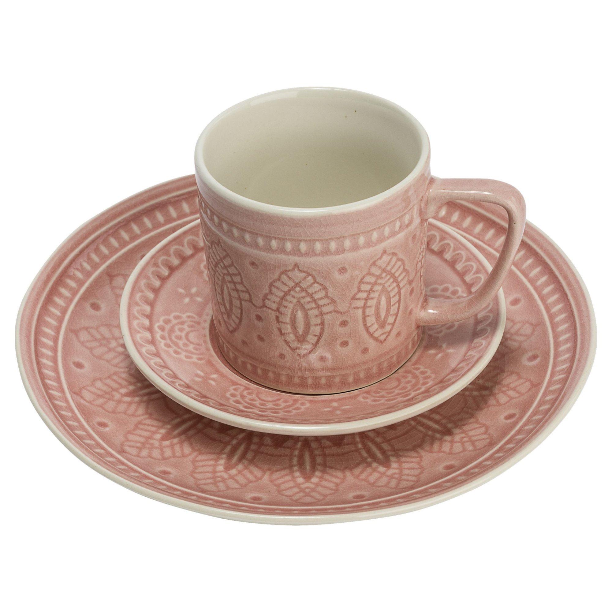 Miavilla Kaffeeservice 18 Tlg Mandala Rosa Weltbildde