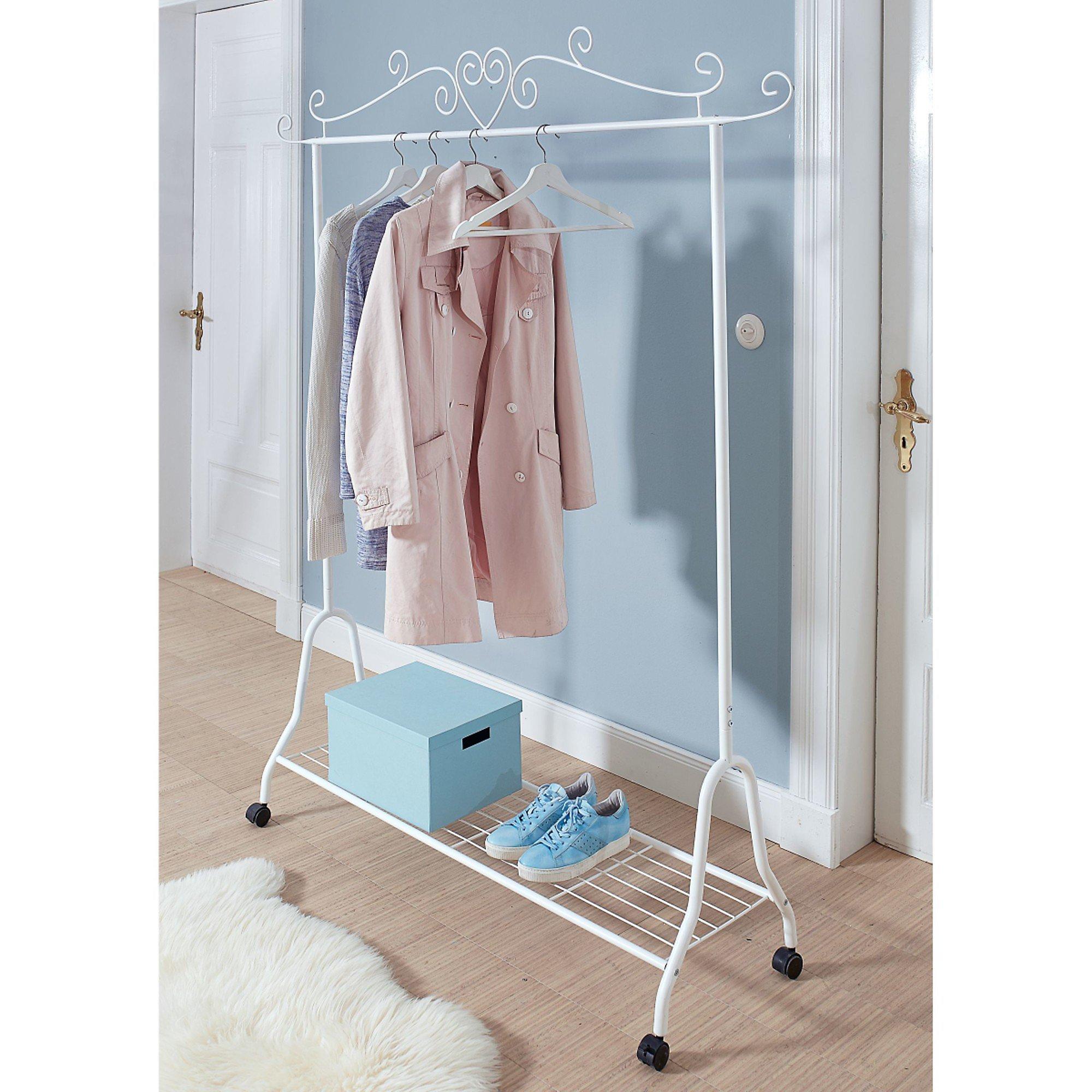miavilla kleiderst nder auf rollen olin wei. Black Bedroom Furniture Sets. Home Design Ideas