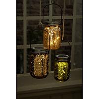 miaVILLA Solarleuchte, 2er Set Fireflies Silberfarben - Produktdetailbild 1