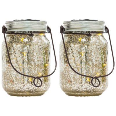 miaVILLA Solarleuchte, 2er Set Fireflies Silberfarben