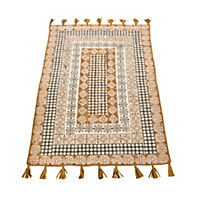 miaVILLA Teppich Fransa Braun/Offwhite 120 x 180 cm - Produktdetailbild 1