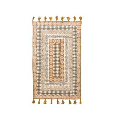 miaVILLA Teppich Fransa Braun/Offwhite 120 x 180 cm
