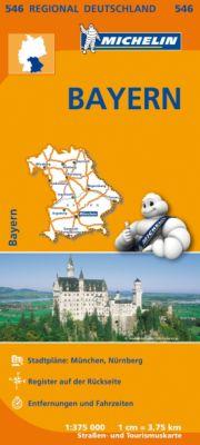 Michelin Karte Bayern; Allemagne Sud-Est, Bavière