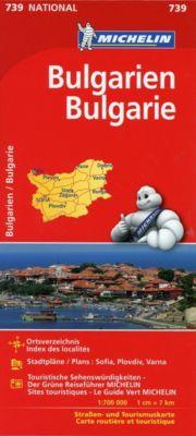 Michelin Karte Bulgarien; Bulgarie