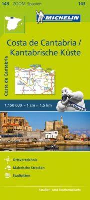 Michelin Karte Costa de Cantabria / Kantabrische Küste; Côte Cantabrique
