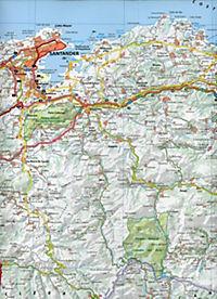 Michelin Karte Costa de Cantabria / Kantabrische Küste; Côte Cantabrique - Produktdetailbild 2