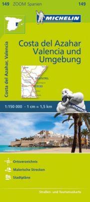Michelin Karte Costa del Azahar, Valencia und Umgebung; Environs de Valence