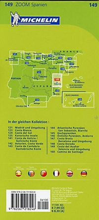 Michelin Karte Costa del Azahar, Valencia und Umgebung; Environs de Valence - Produktdetailbild 1