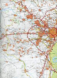 Michelin Karte Costa del Azahar, Valencia und Umgebung; Environs de Valence - Produktdetailbild 2