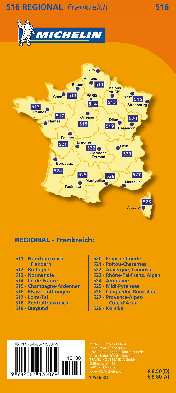 Lothringen Karte.Michelin Karte Elsass Lothringen Alsace Lorraine Jetzt Kaufen