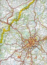 Michelin Karte Estremadura, Kastilien-La Mancha, Madrid; Espana Centro, Castilla-La Mancha, Madrid - Produktdetailbild 2